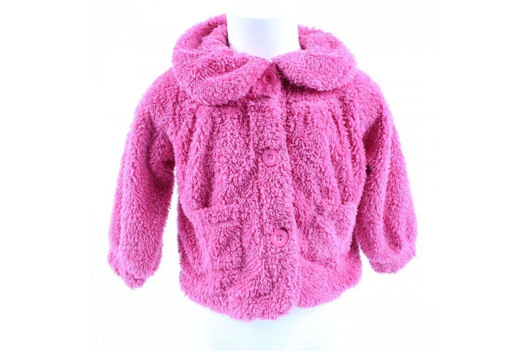 Dívčí chlupatá mikina George růžová Dětské mikiny a svetry