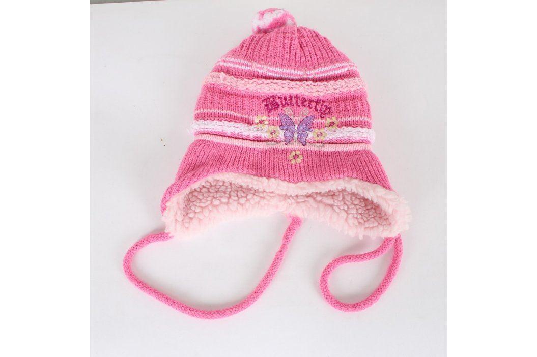 Dívčí zimní čepice Paola Style růžová Dětské šály, čepice a rukavice