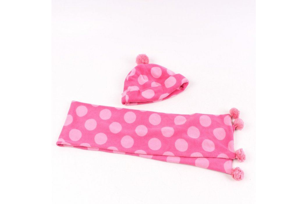 Set čepice a šály Next růžový s puntíky Dětské šály, čepice a rukavice