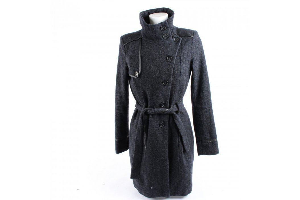 Dámský dlouhý kabát Camaieu tmavě šedý Dámské bundy a kabáty