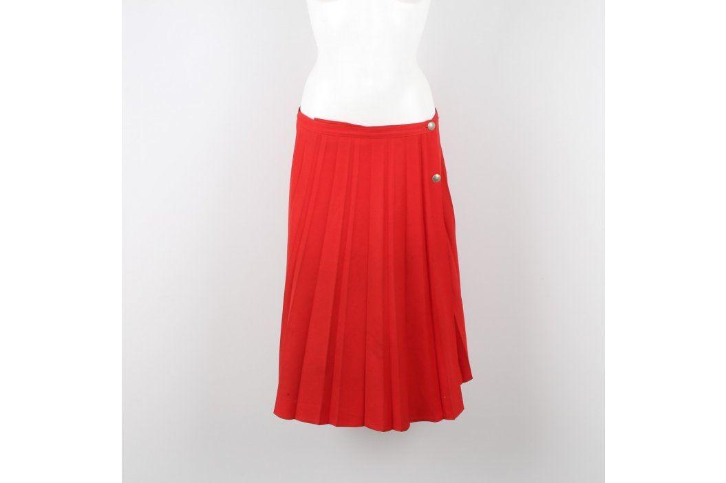 Dámská skládaná sukně červená Dámské sukně