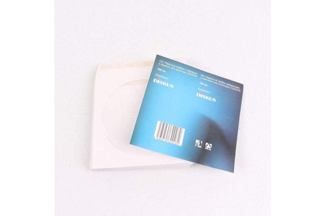 Papírové obálky Diskus na CD Pouzdra a obaly na CD
