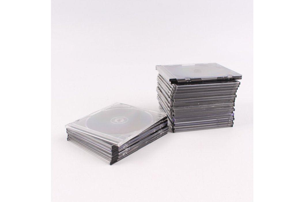 Sada plastových CD obalů 28 ks  Pouzdra a obaly na CD