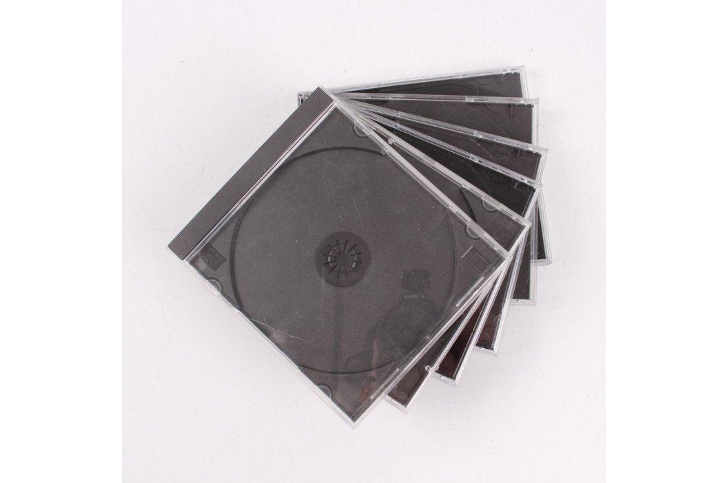 Sada CD obalů plastových 6 ks Pouzdra a obaly na CD