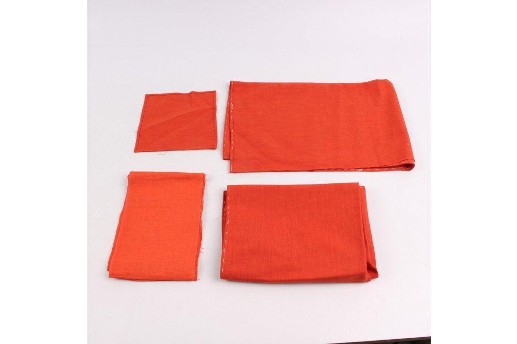 Sada bytových látek oranžové barvy Další bytový textil