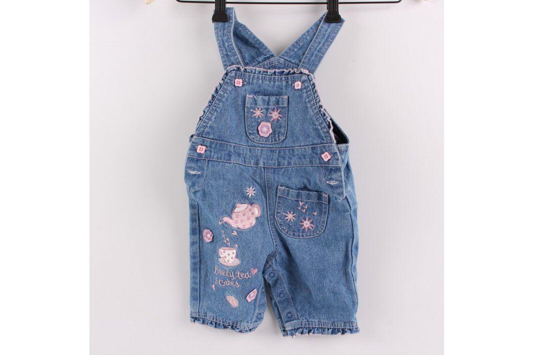 Dětské lacláče Morvin Mouse džínové modré Dětské kalhoty