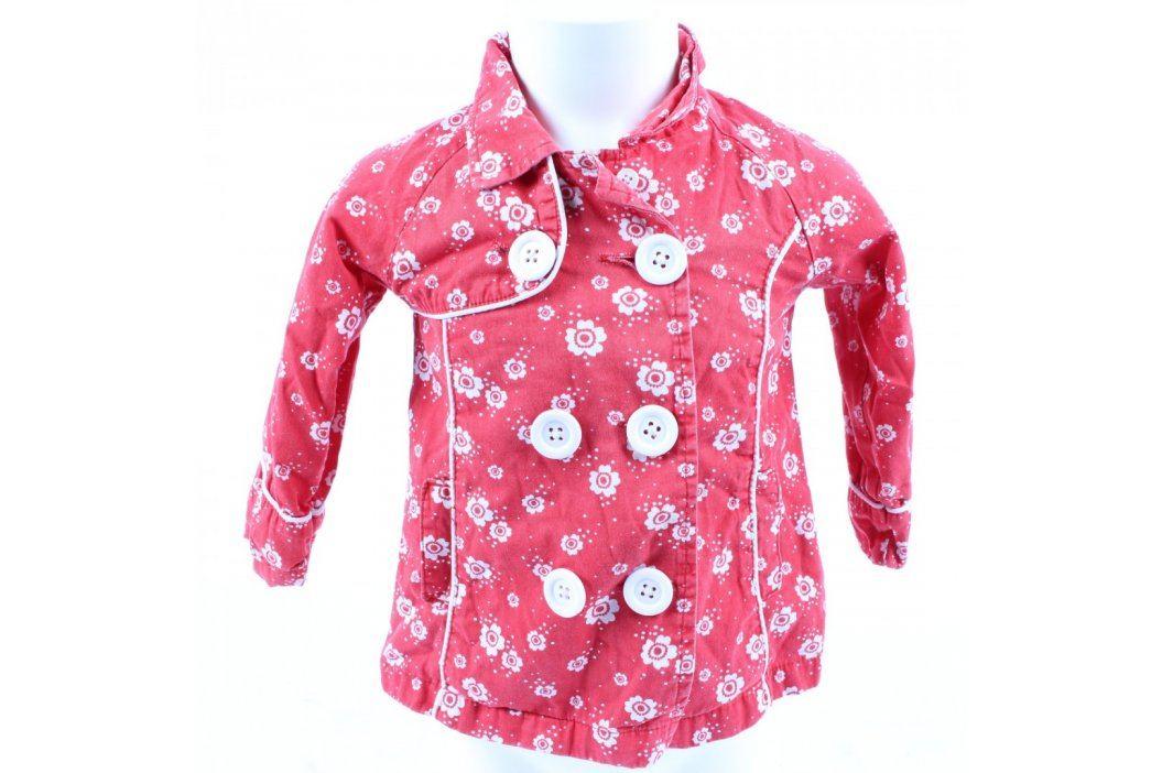 Dětská bunda George růžová s kytičkami Dětské bundy a kabáty