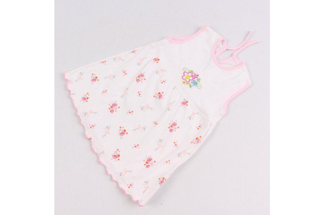 Dětské šaty bílé s kytičkami Dětské šaty a sukně