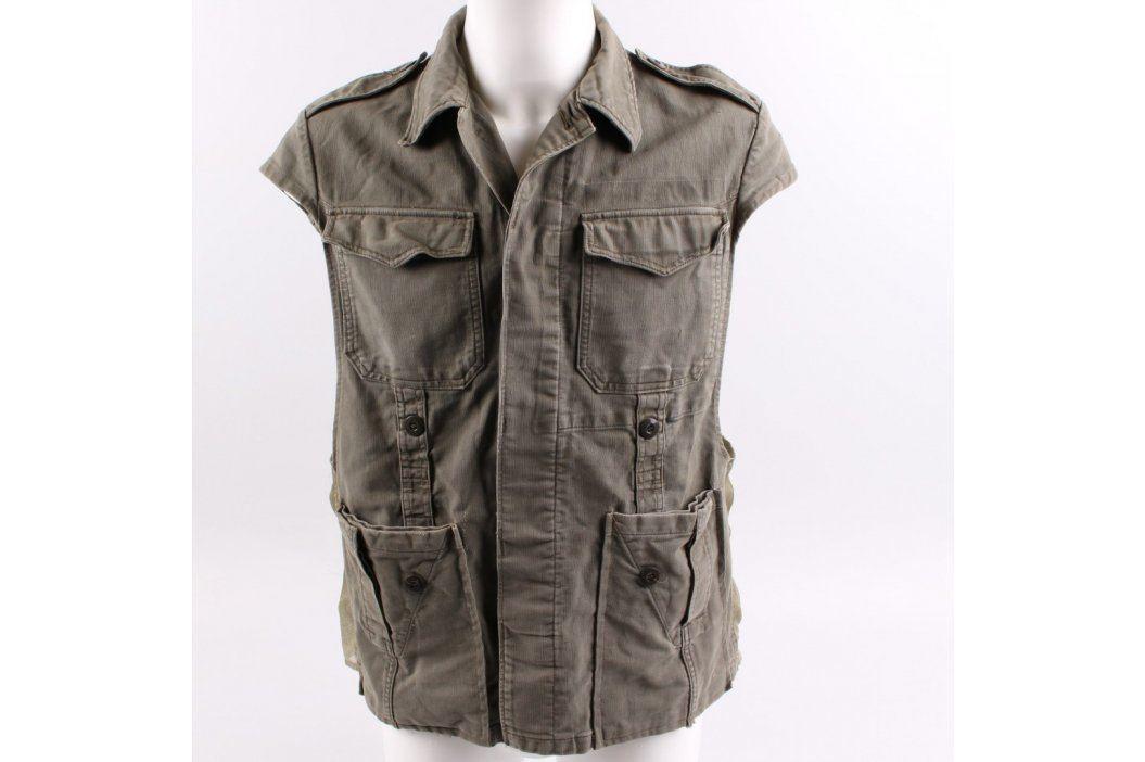 Pánská pracovní vesta khaki barvy Pánské vesty