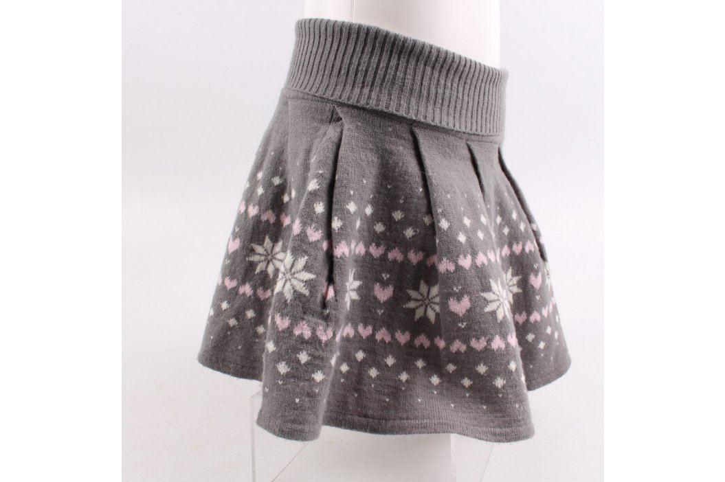 Dívčí sukně Young dimension teplá šedá  Dětské šaty a sukně