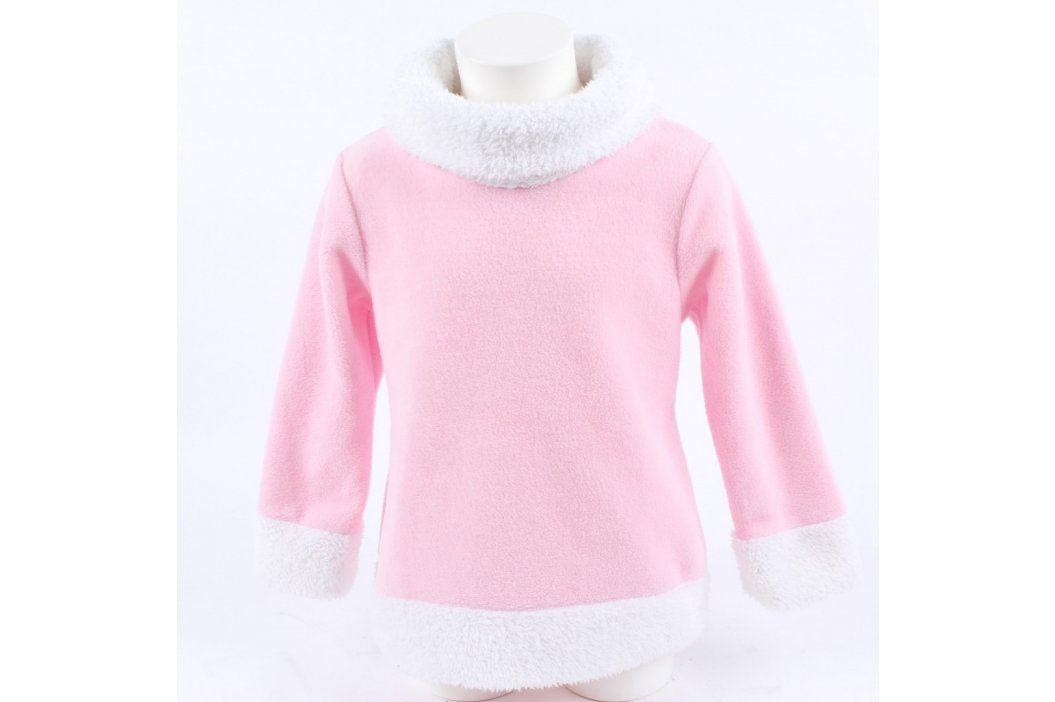 Dětská mikina H. For you růžová s lemy  Dětské mikiny a svetry