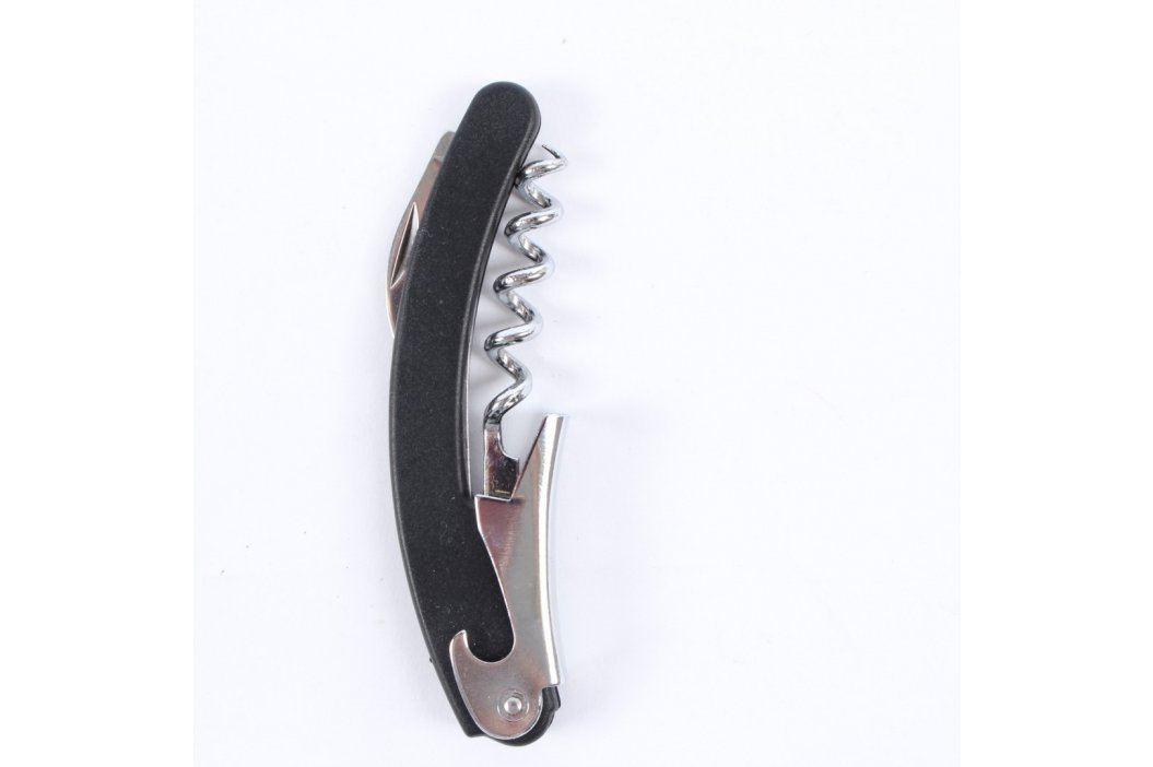 Malá vývrtka s nožíkem a otvírákem černá Otvíráky a vývrtky