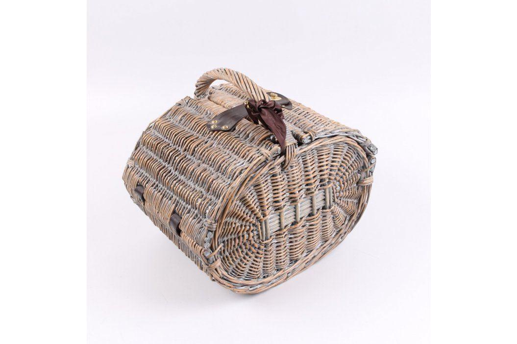Piknikový koš ručně pletený včetně nádobí