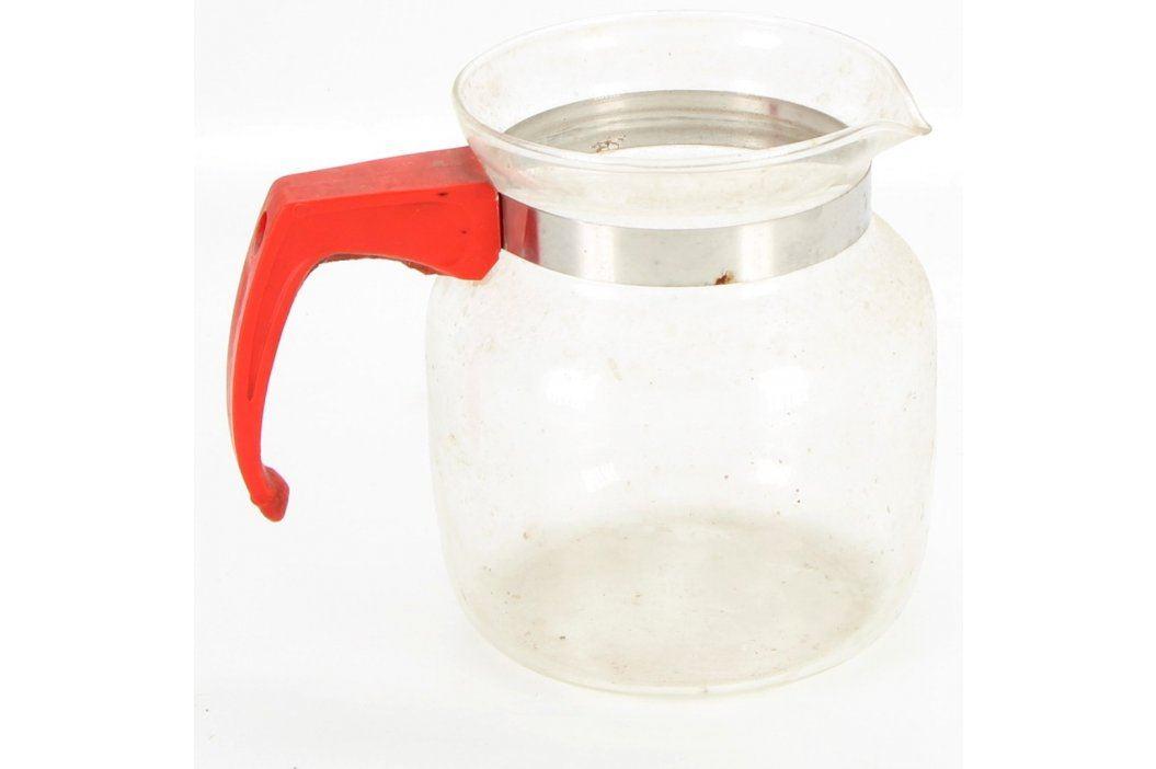 Skleněná konvice na čaj s červeným uchem Konvice