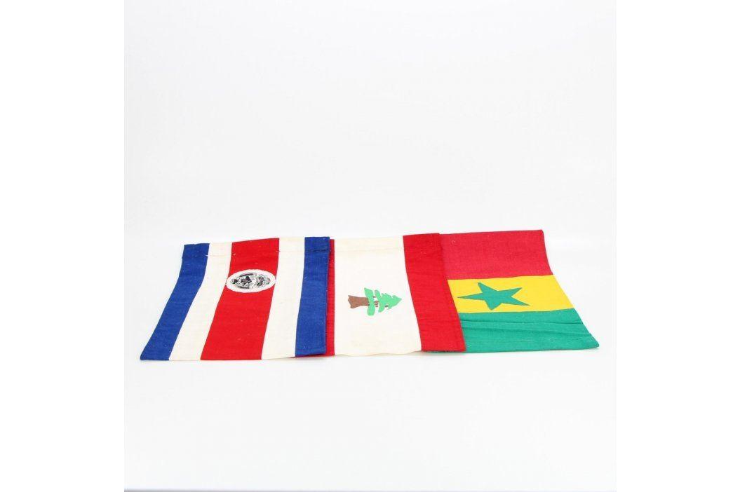 Vlajky Libanonu, Senegalu a Kostariky Cestovatelské předměty