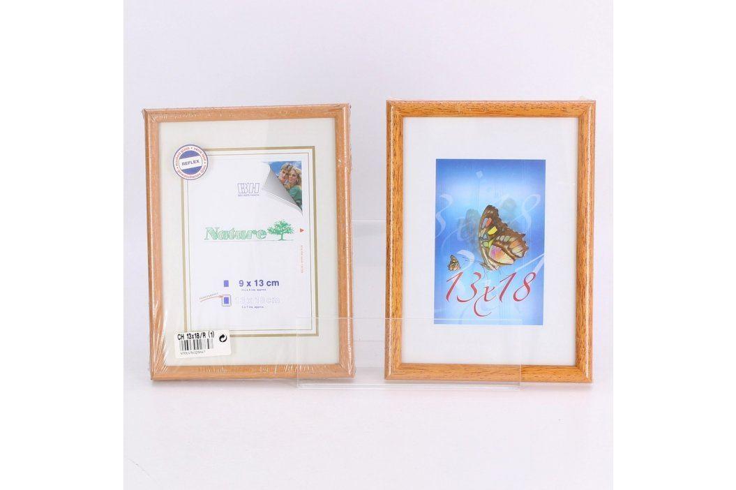 Dřevěné rámečky PONK 2 ks odstín hnědé