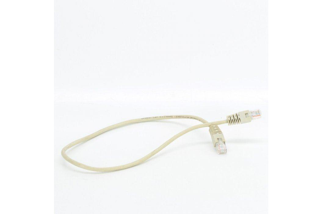Síťový kabel RJ45 šedý délka 60 cm