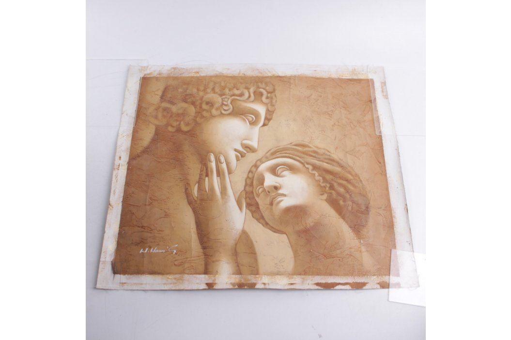 Umělecké plátno: obraz dvou soch