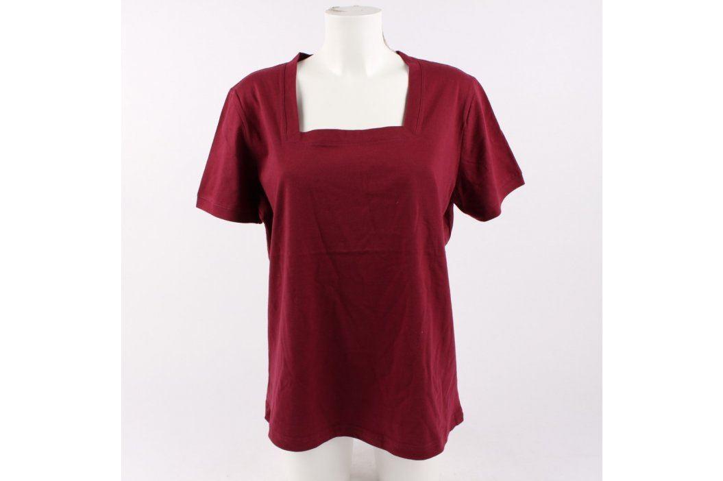 Dámské bavlněné tričko odstín červené