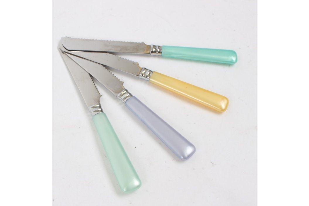 Příborový nůž s barevnou rukojetí - 4 kusy Kuchyňské nože a nůžky