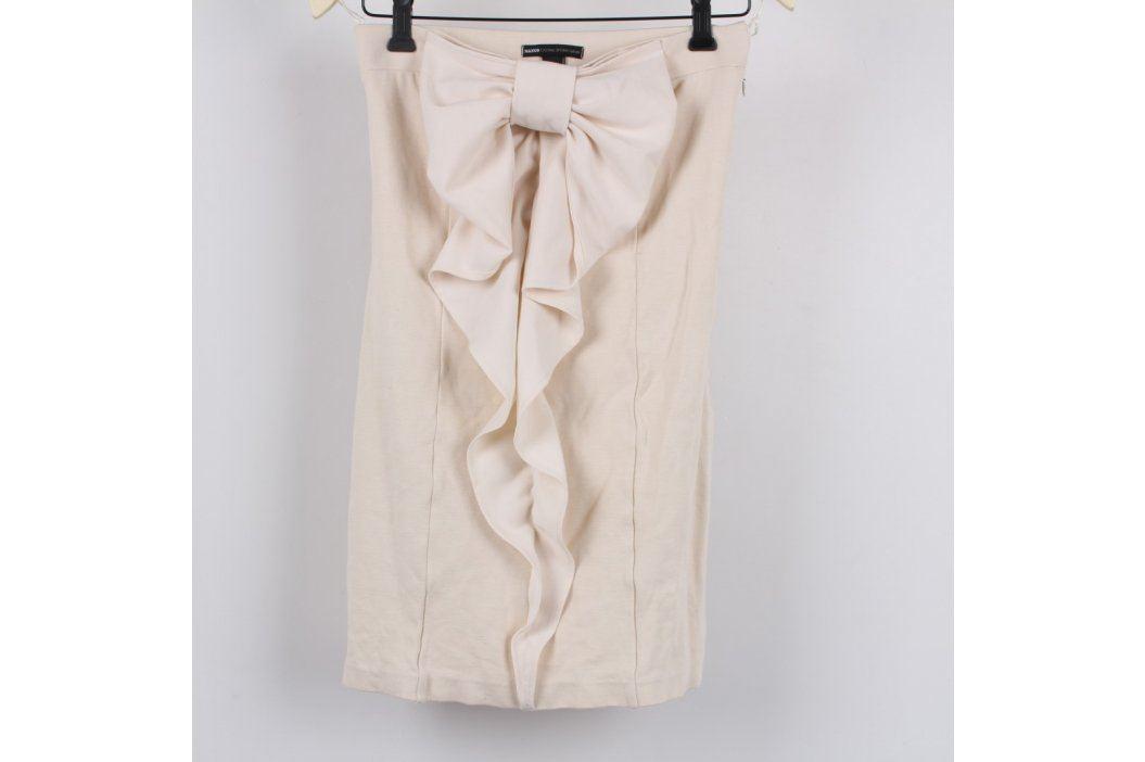 Dámské mini šaty s mašlí Mango béžové