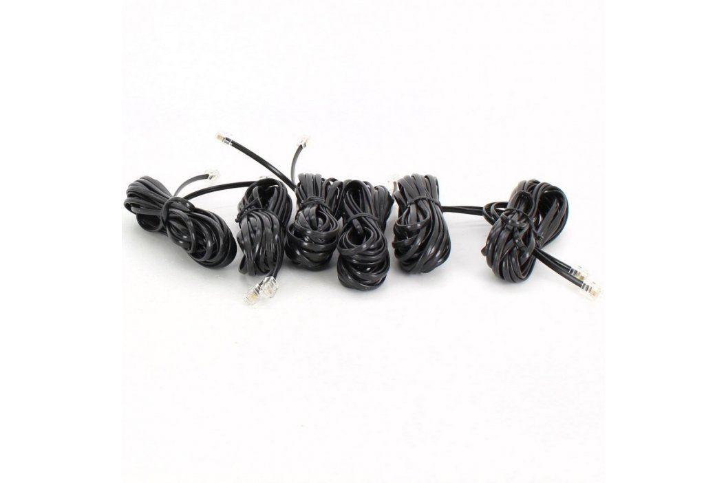 Telefonní kabel 2x RJ11 černý