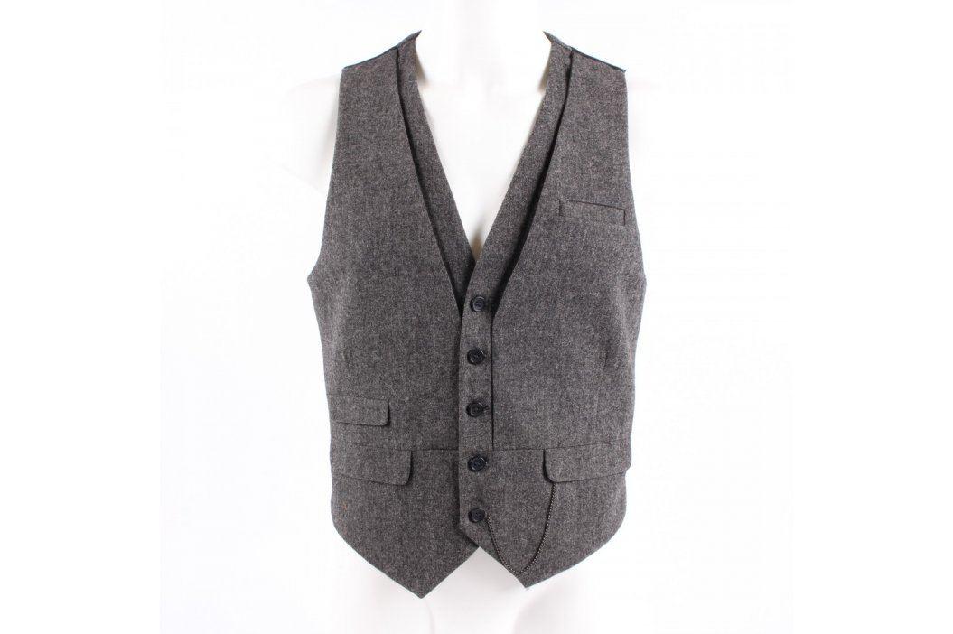 Pánská vesta H&M šedá na knoflíky