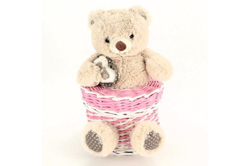 Pletený košík s medvídkem