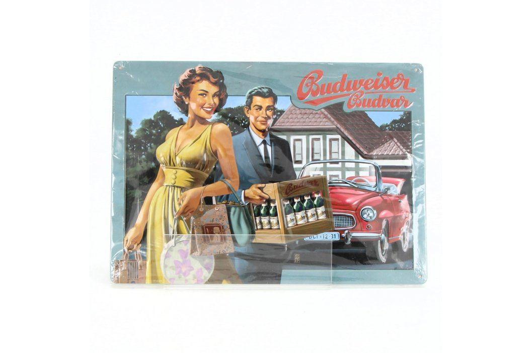 Reklamní cedule Budweiser plechová
