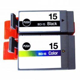 Canon BCI-15Bk + Canon BCI-15cl - kompatibilní