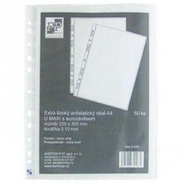 Euroobal U maxi, A4, 220 x 300mm, 100mic, transparentní, 50ks, Karton P+P