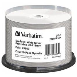 Verbatim CD-R DataLife Protection 52x, Printable 50ks cakebox