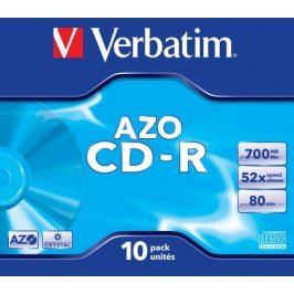 Verbatim CD-R DataLife Protection 52x, 10ks cakebox