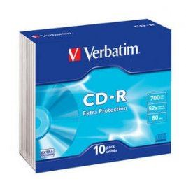 Verbatim CD-R [ slim jewel case 10 | 700MB | 52x | DataLife ]