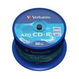 CD-R Verbatim DLP 80min. 52x Crystal 50-cake