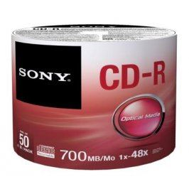 Sony CD-R 50ks cakebox