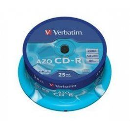 VERBATIM CD-R (25-Pack) Cake /Crystal /52x /700MB