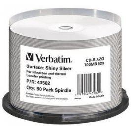 VERBATIM CD-R (50-Pack) Spindle /ShinySlvr /52x /700MB