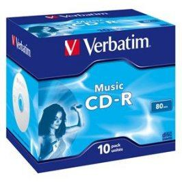 Verbatim CD-R Audio [ jewel case 10 | 80min | 4x | Live it! ]