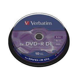 Verbatim DVD+R 8x, Dual Layer 10ks cakebox
