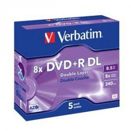 VERBATIM DVD+R (5-pack) DoubleLayer /Jewel /8x /8,5GB
