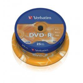 Verbatim DVD-R 16x, 25ks cakebox