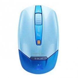 E-Blue Myš Vertical on air, 2 ks AAA, 2.4 [GHz], optická, 4tl., 1 kolečko, bezdrátová, modrá, 1800DPI, NANO přijímač, tichá