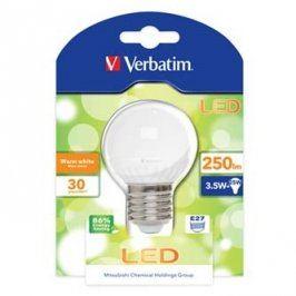LED žárovka Verbatim E27, 52135, 220-240V, 3,5W, 250lm, 3000k, teplá bílá, 30000h, klasická žárovka, 2835