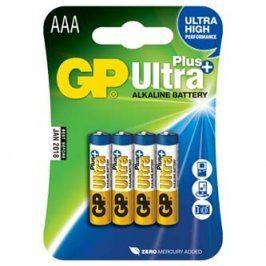 Baterie alkalická, AAA, 1.5V, GP, blistr, 4-pack, ultra plus, cena za 1 ks baterie