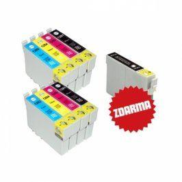 Náplně do tiskárny 2 x Epson T1285 + T1281 (černá) zdarma - Multipack, kompatibilní kazety s čipem