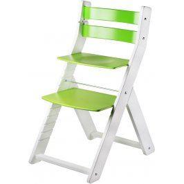 Dětská rostoucí židle Wood Partner Sandy, bílo-zelená