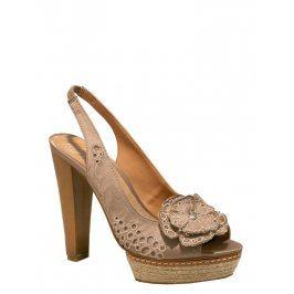 Dámske sandále 26020_beige Béžová 40
