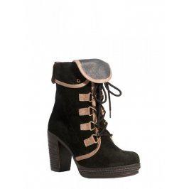 Dámska obuv na podpätku 20921 38 Černá