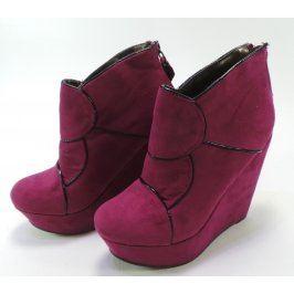 Dámské kotníkové boty Mixer, na platformě, fialové